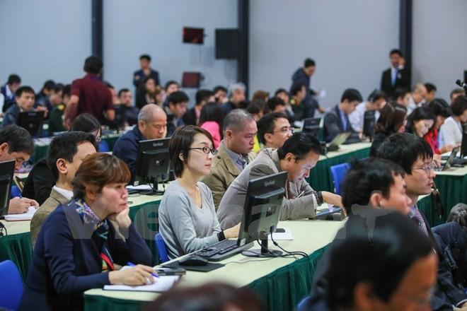 Cận cảnh Trung tâm báo chí cho 700 phóng viên đưa tin Đại hội Đảng XII - ảnh 4