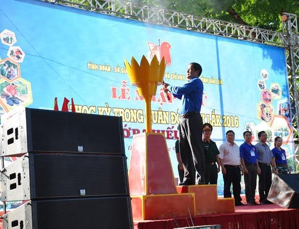 Đắk Lắk: 120 'chiến sĩ nhỏ' nhập ngũ Học kỳ Quân đội  - ảnh 1