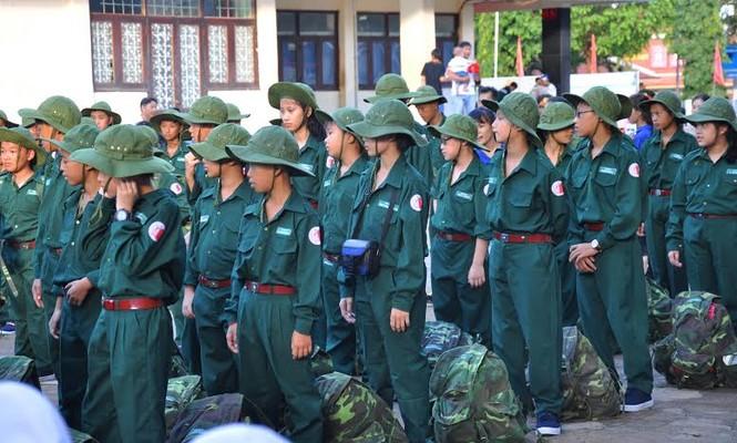 Đắk Lắk: 120 'chiến sĩ nhỏ' nhập ngũ Học kỳ Quân đội  - ảnh 4
