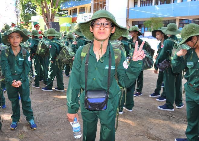 Đắk Lắk: 120 'chiến sĩ nhỏ' nhập ngũ Học kỳ Quân đội  - ảnh 7