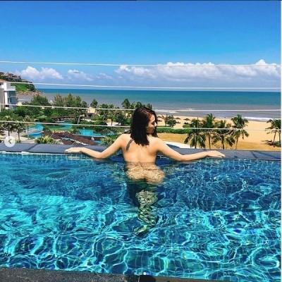 Hồng Quế đăng ảnh nude phản cảm dưới bể bơi gây 'sốc' - ảnh 1