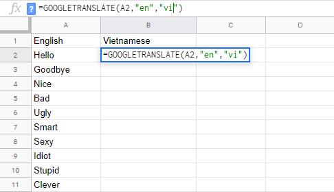 Mẹo cực chất để Google Translate dịch trực tiếp ngay trong Google Sheets  - ảnh 2