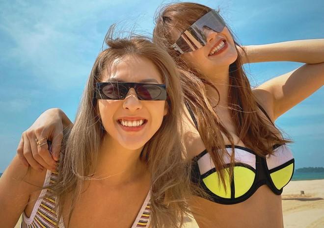 Minh Hằng diện bikini khoe ngực đầy nóng bỏng - ảnh 1
