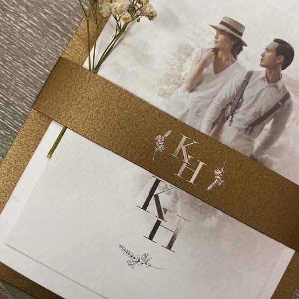 Lộ thiệp cưới của Hồ Ngọc Hà và Kim Lý? - ảnh 1