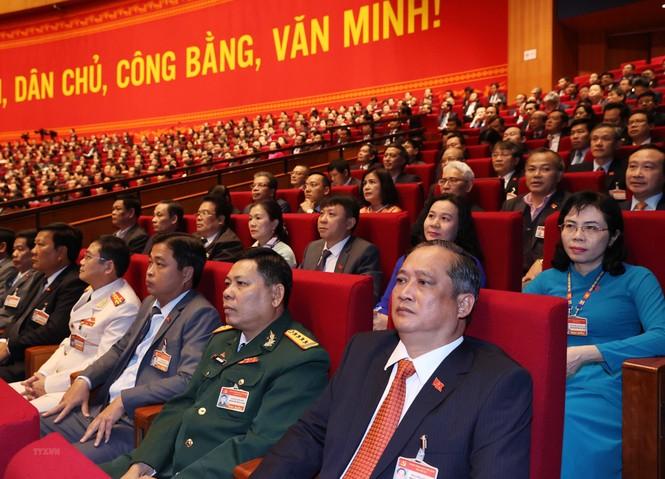 Hình ảnh đại biểu trình bày tham luận tại Đại hội XIII của Đảng - ảnh 11
