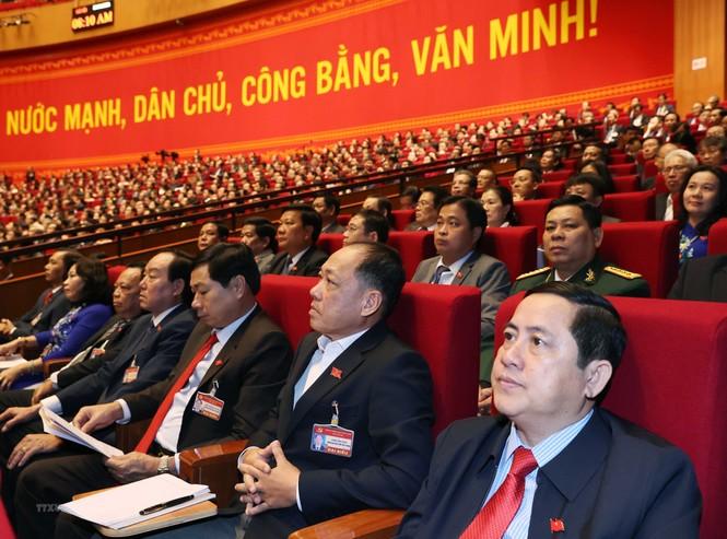 Hình ảnh đại biểu trình bày tham luận tại Đại hội XIII của Đảng - ảnh 12