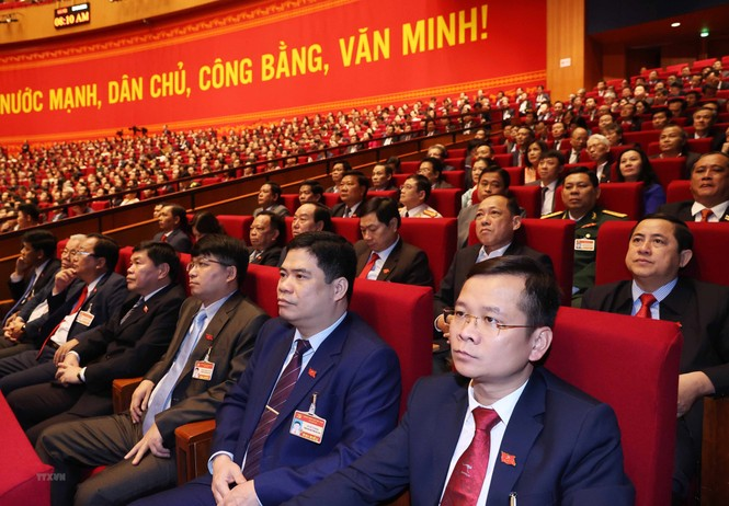 Hình ảnh đại biểu trình bày tham luận tại Đại hội XIII của Đảng - ảnh 13