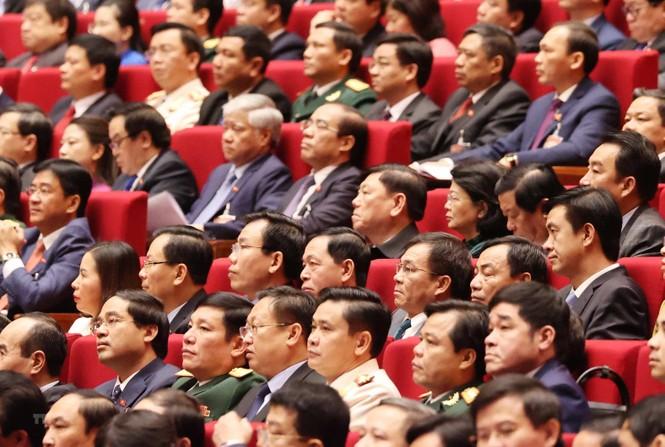 Hình ảnh đại biểu trình bày tham luận tại Đại hội XIII của Đảng - ảnh 15