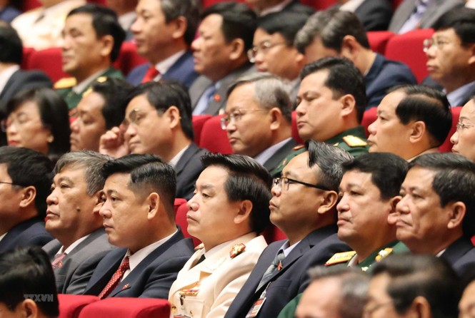 Hình ảnh đại biểu trình bày tham luận tại Đại hội XIII của Đảng - ảnh 16