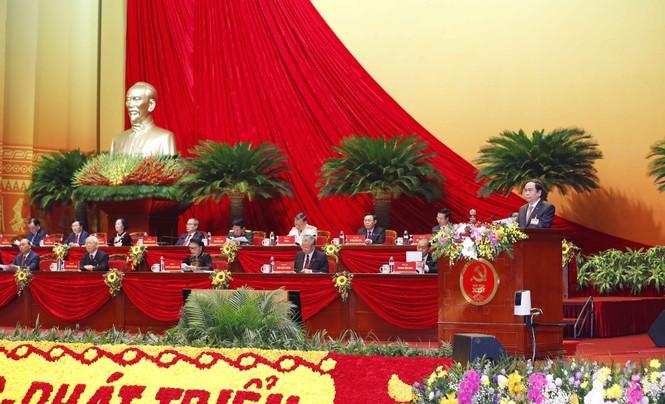 Hình ảnh đại biểu trình bày tham luận tại Đại hội XIII của Đảng - ảnh 2