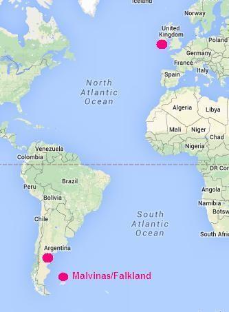 Quần đảo Falkland/Malvinas nằm rất gần Argentina