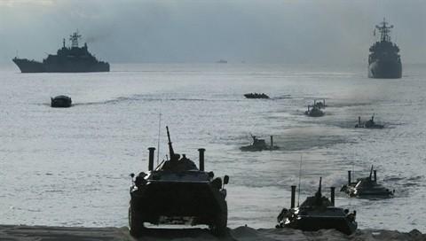 Lực lượng đổ bộ của hải quân đánh bộ Nga trong một cuộc tập trận