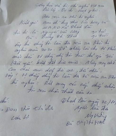 15 năm hộ nghèo, cặp vợ chồng 90 tuổi bất ngờ viết đơn xin thoát nghèo - ảnh 1