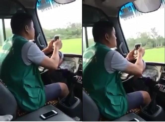 Xử phạt 700 ngàn đồng tài xế bấm điện thoại, dùng khuỷu tay điều khiển vô lăng - ảnh 1