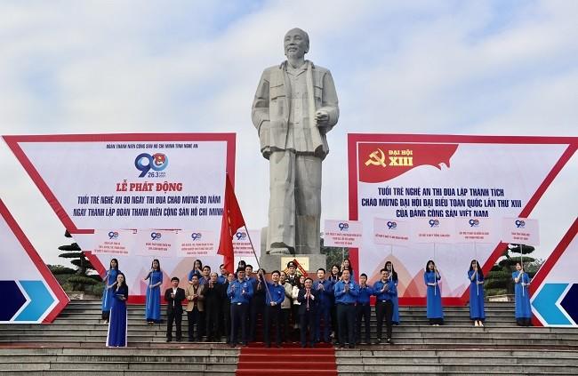 Tỉnh đoàn Nghệ An phát động 90 ngày thi đua chào mừng kỷ niệm 90 năm thành lập Đoàn - ảnh 5