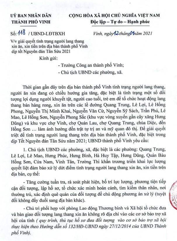 """Điều tra tình trạng """"chăn dắt"""" người ăn xin ở Nghệ An - ảnh 2"""
