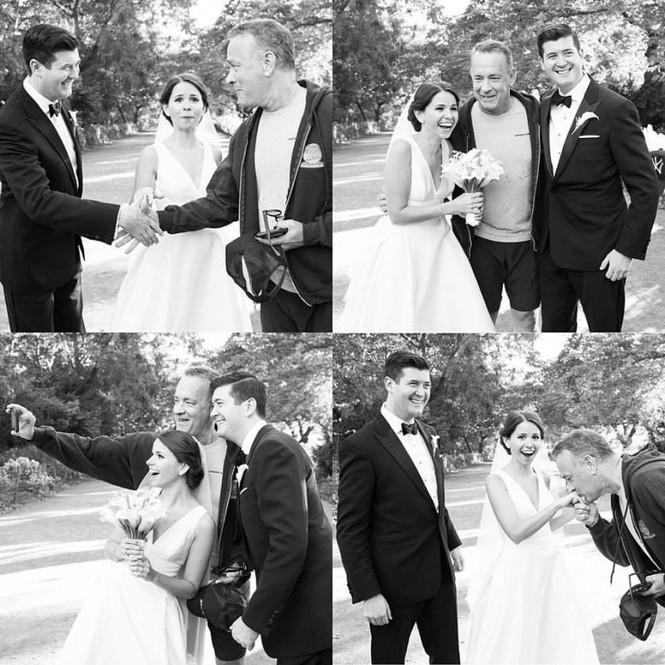 """Tom Hanks """"đánh bom"""" ảnh cưới cặp đôi New York - ảnh 1"""