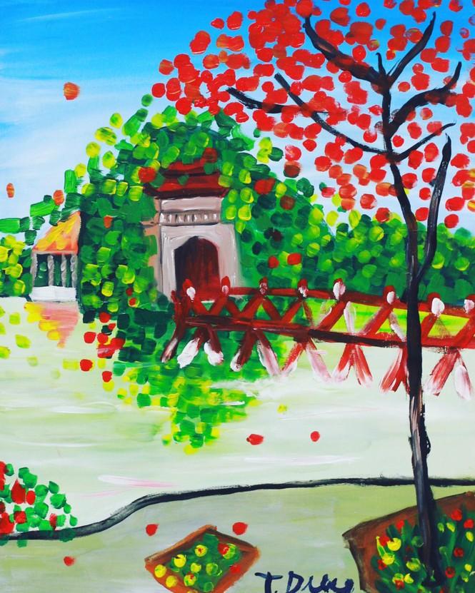 Học trò đặc biệt của diễn viên Lương Giang bày triển lãm 'Sắc màu-Những mảnh ghép' - ảnh 3