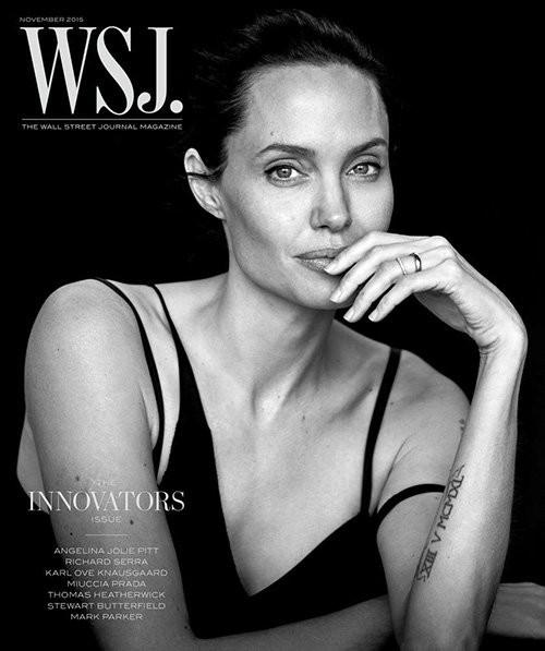 Angelina Jolie giản dị trong bộ ảnh trắng đen - ảnh 1