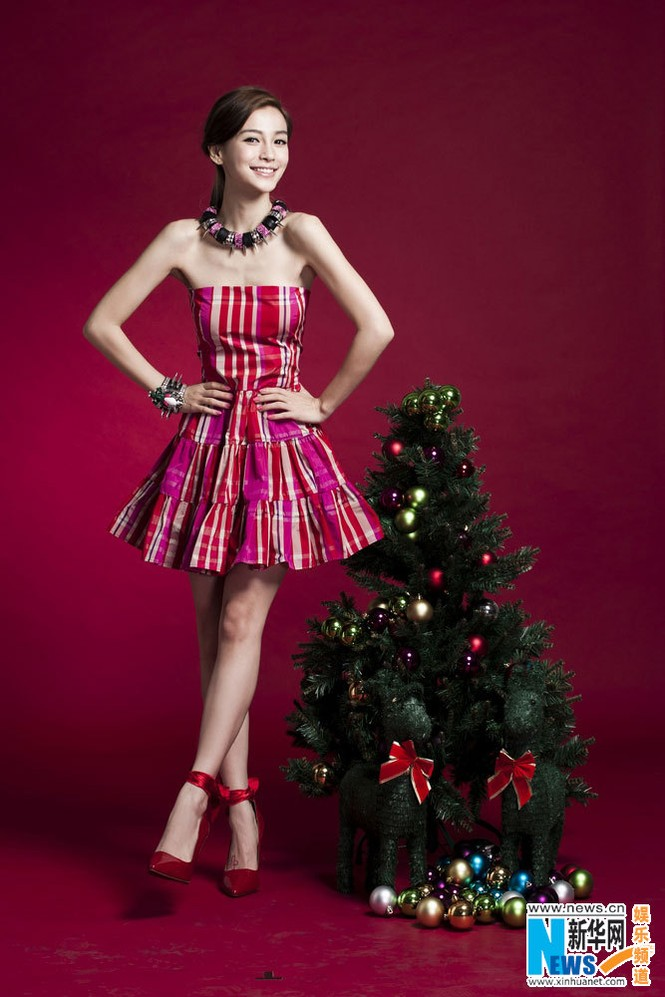 Angelababy xinh đẹp rạng rỡ mừng Giáng sinh - ảnh 2