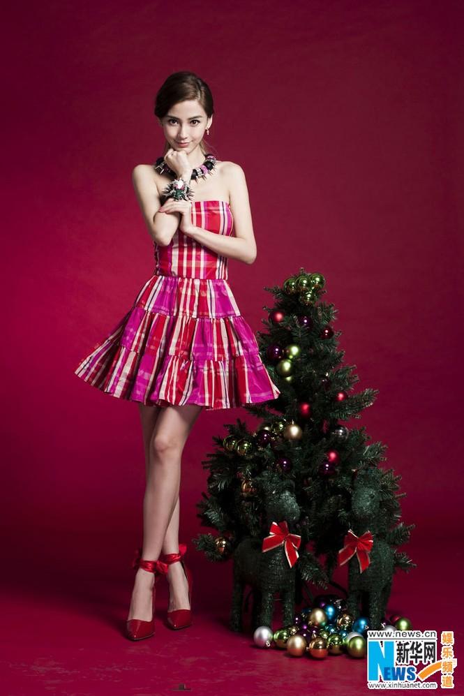 Angelababy xinh đẹp rạng rỡ mừng Giáng sinh - ảnh 3