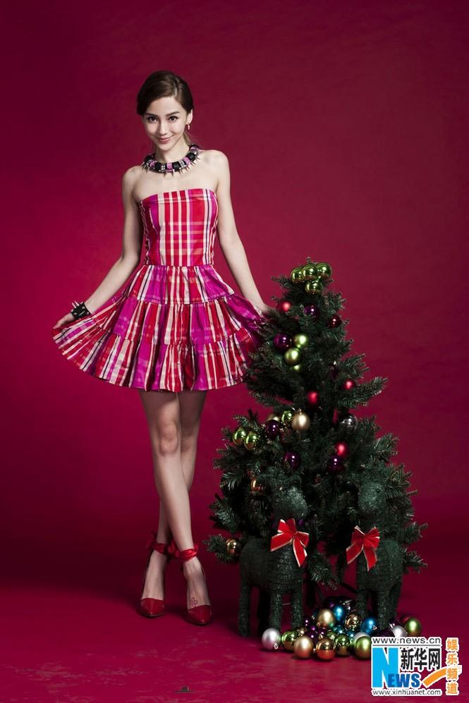 Angelababy xinh đẹp rạng rỡ mừng Giáng sinh - ảnh 4