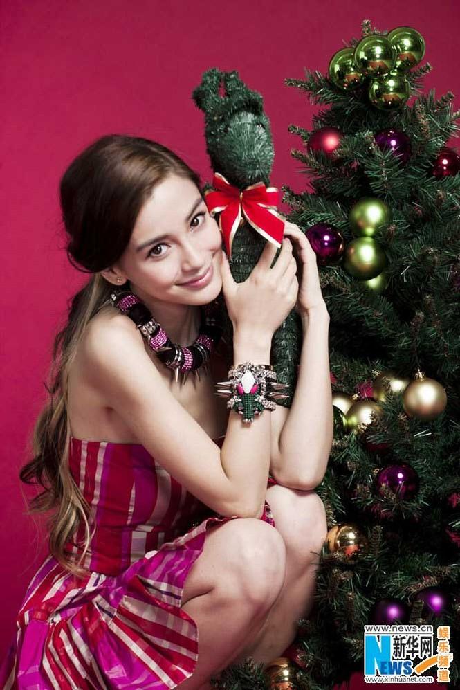 Angelababy xinh đẹp rạng rỡ mừng Giáng sinh - ảnh 8