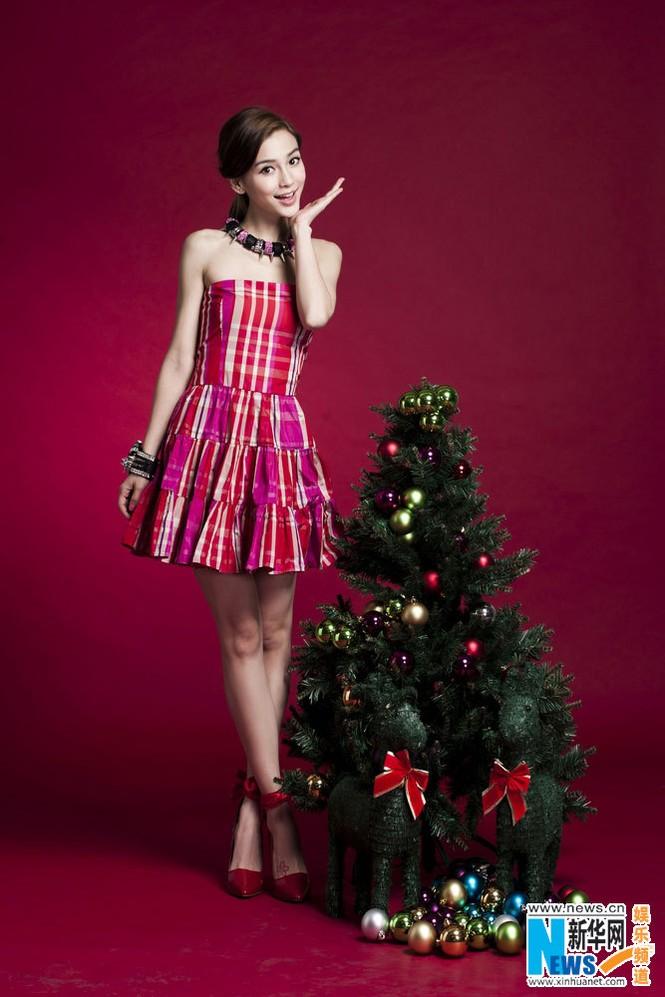 Angelababy xinh đẹp rạng rỡ mừng Giáng sinh - ảnh 5