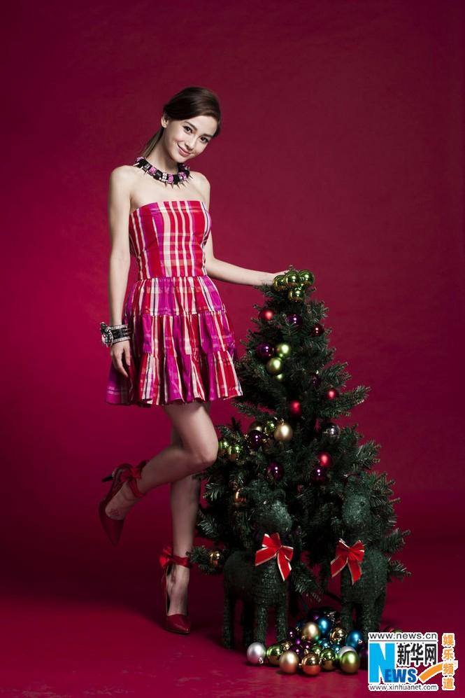 Angelababy xinh đẹp rạng rỡ mừng Giáng sinh - ảnh 7