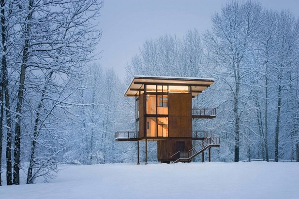Những ngôi nhà phủ đầy tuyết trắng khắp thế giới - ảnh 5