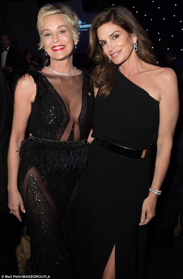 Sharon Stone Cindy Crawford - ảnh 1