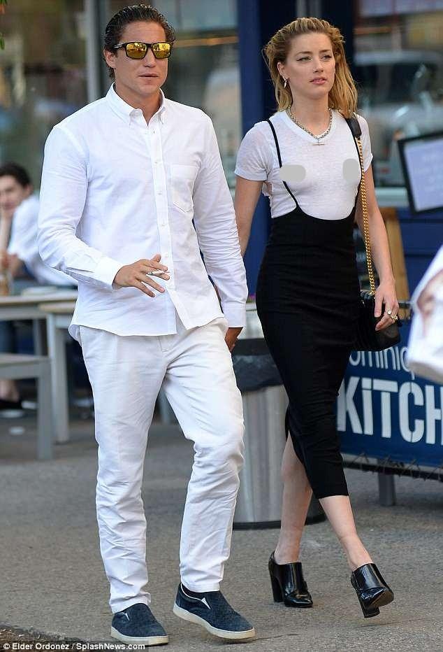 Táo bạo bỏ nội y, vợ cũ Johnny Depp tay trong tay tình cũ Heidi Klum - ảnh 3
