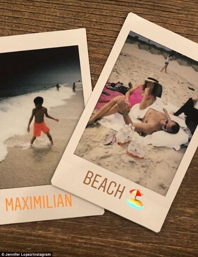 Jennifer Lopez lộ nhẫn đính hôn khi đi tắm biển cùng bồ trẻ  - ảnh 2