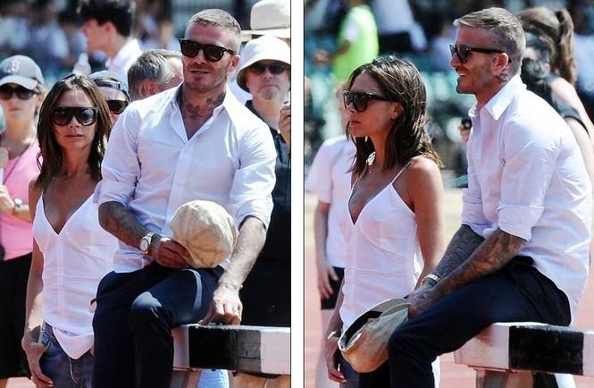Victoria Beckham vòng tay ôm eo chồng tình tứ, nở nụ cười hiếm hoi - ảnh 6