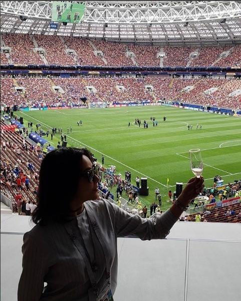 Hoa hậu Pháp, thiên thần nội y sôi nổi trên khán đài chung kết World Cup - ảnh 7