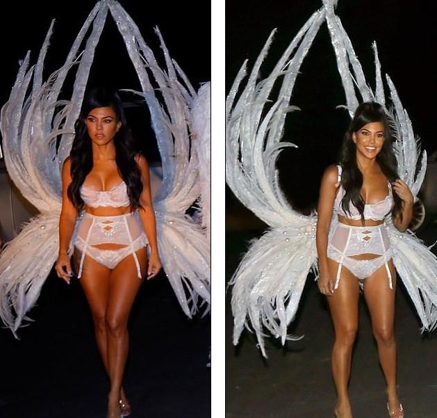Chị em nhà Kim Kardashian hóa thân thành thiên thần nội y  - ảnh 11