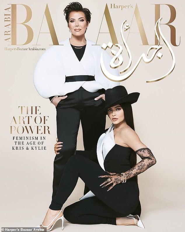 Cô út tỉ phú nhà Kardashian cùng mẹ và con gái sang chảnh trên bìa Bazaar - ảnh 2