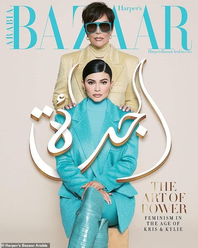 Cô út tỉ phú nhà Kardashian cùng mẹ và con gái sang chảnh trên bìa Bazaar - ảnh 3