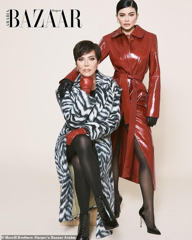Cô út tỉ phú nhà Kardashian cùng mẹ và con gái sang chảnh trên bìa Bazaar - ảnh 6