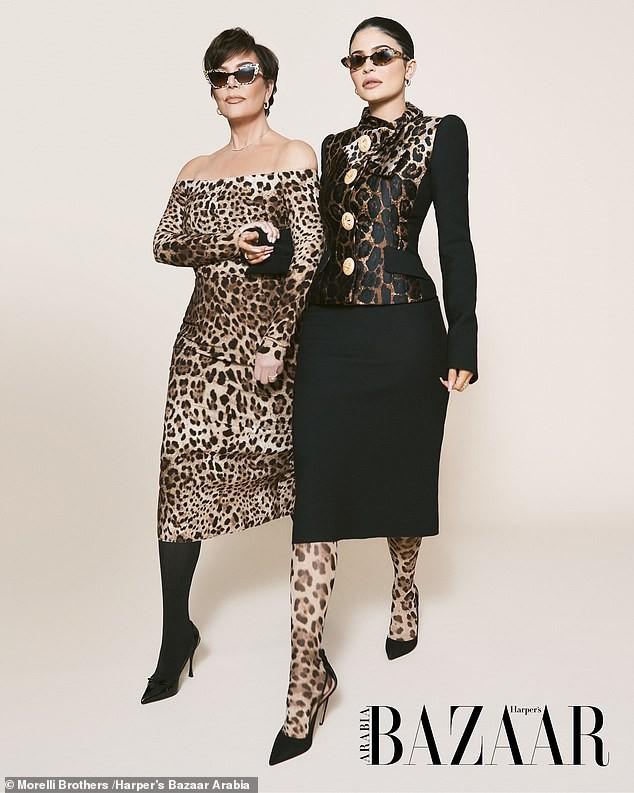 Cô út tỉ phú nhà Kardashian cùng mẹ và con gái sang chảnh trên bìa Bazaar - ảnh 4