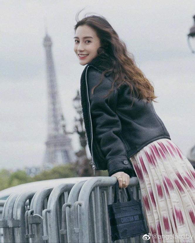Angelababy xinh như công chúa giữa trời Paris - ảnh 5