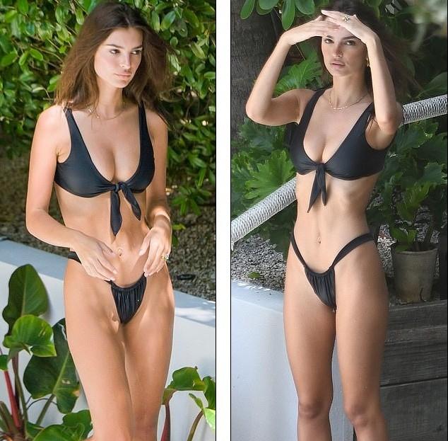 Emily Ratajkowski diện bikini gợi tình ở Miami - ảnh 1