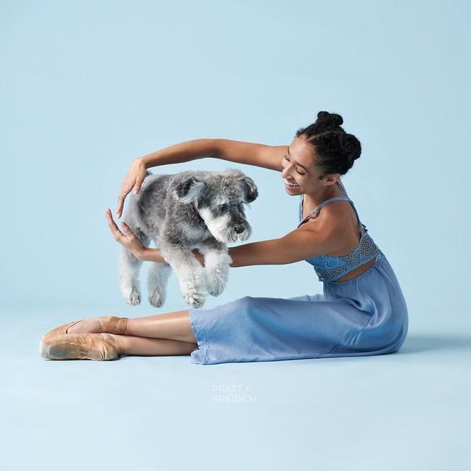 Dàn vũ công ba lê bay bổng tuyệt đẹp cùng những chú chó - ảnh 12