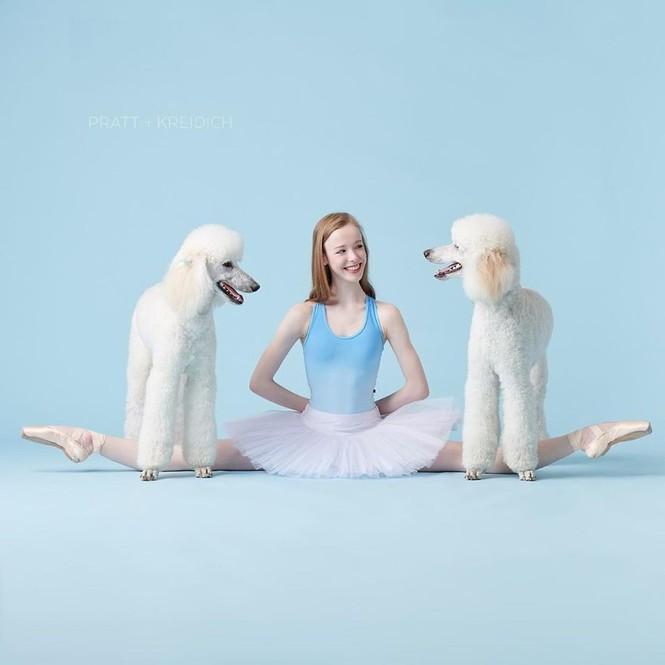 Dàn vũ công ba lê bay bổng tuyệt đẹp cùng những chú chó - ảnh 17