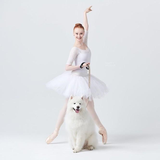 Dàn vũ công ba lê bay bổng tuyệt đẹp cùng những chú chó - ảnh 24