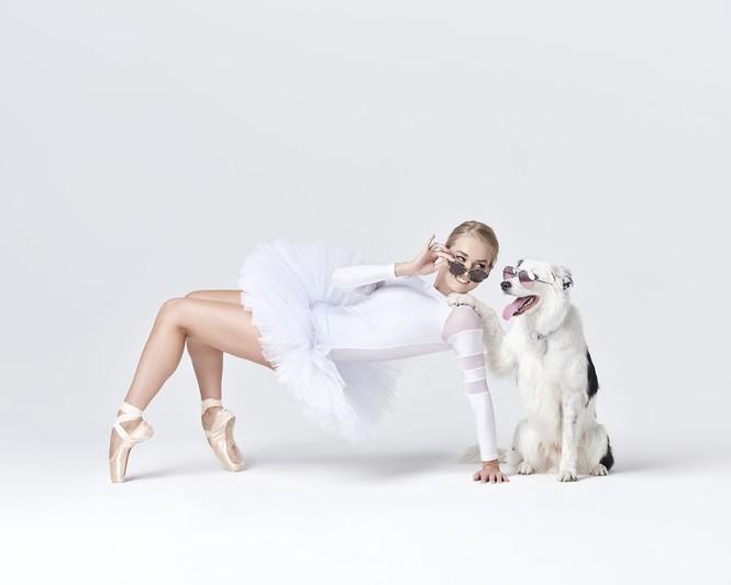 Dàn vũ công ba lê bay bổng tuyệt đẹp cùng những chú chó - ảnh 3