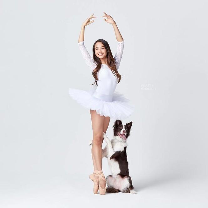 Dàn vũ công ba lê bay bổng tuyệt đẹp cùng những chú chó - ảnh 4