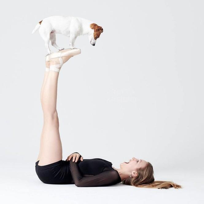 Dàn vũ công ba lê bay bổng tuyệt đẹp cùng những chú chó - ảnh 7