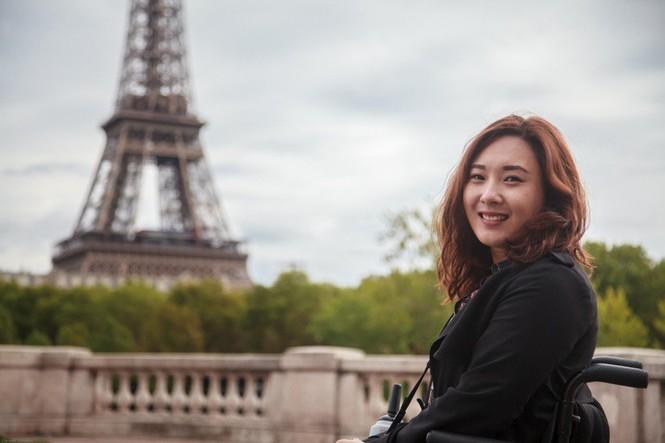 Cô gái Hàn Quốc liệt hai chân chu du thế giới - ảnh 1