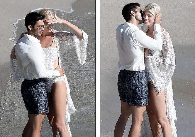Thiên thần nội y mặc áo tắm nồng nàn bên hôn phu trước ngày cưới - ảnh 2